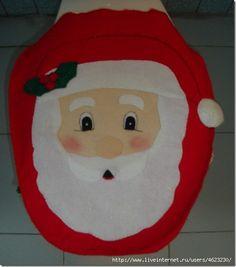 Manualidades, papa Noel para la tapa del inodoro | Divertidas de Navidad