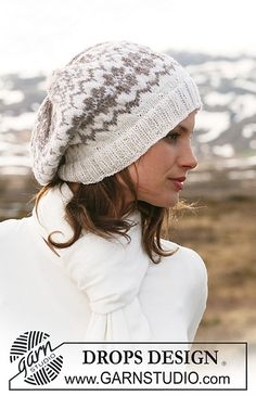 "Ravelry: 116-45 Basque hat in ""Karisma Superwash"" with Norwegian pattern pattern by DROPS design"
