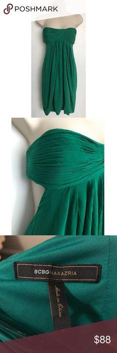 BCBGMaxAzria Green Back Revealing Dress Small BCBGMaxAzria Dresses