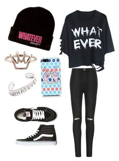"""Whatever✌️"" by gurveenpanesar ❤ liked on Polyvore featuring Ally Fashion, Vans, women's clothing, women, female, woman, misses and juniors"