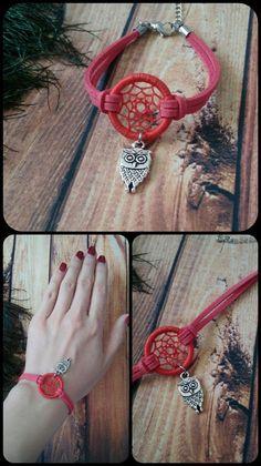 Dream Catcher Bracelet, Dream Catcher Jewelry, Dream Catcher Craft, Bracelet Crafts, Jewelry Crafts, Bracelets, Diy Birthday Surprise, Diy Clothes Patterns, Dream Catcher Native American