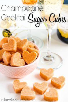The cutest idea!! DIY Champagne Cocktail Sugar Cubes Recipe