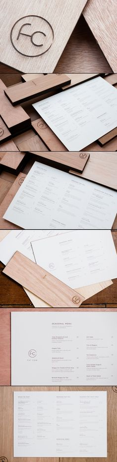 Fat Cow Restaurant Menu and Collateral