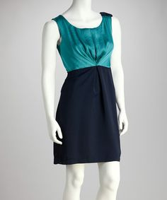 Take a look at this Teal Sleeveless Day Dress by THML Clothing on #zulily today!