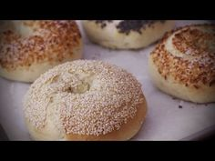 Bread Recipes - How to Make Homemade Bagels - YouTube