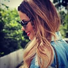 Image result for ombre hair dark brown to dirty blonde