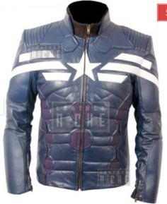 Captain America Leather Jacket. http://www.leatherniche.com/shop/captain-america-the-winter-soldier-2014-sheep-leather-jacket-costume-2 [#Marvel #steve rogers #cosplay #fashion #clothing #clothes]