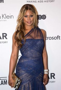Laverne Cox attends the amfAR Inspiration Gala New York 2014 at the Plaza Hotel in New York on June 10, 2o14.