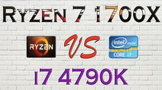 RYZEN 7 1700X vs i7 4790K - BENCHMARKS / GAMING TESTS REVIEW AND COMPARI...