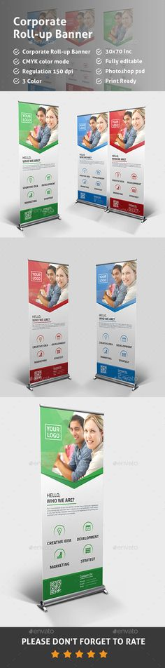 Corporate Roll-up Banner Template PSD. Download here: http://graphicriver.net/item/corporate-rollup-banner/14816551?ref=ksioks