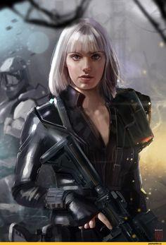 art,красивые картинки,арт девушка,Sci-Fi