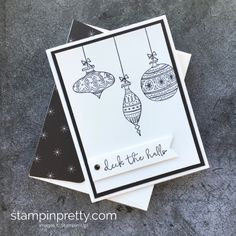 Learn how to create this Christmas card with Stampin' Up! Seasons of Whimsy - Mary Fish StampinUp Idea