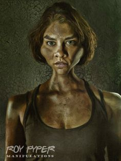 A re-edited Walking Dead promo photo featuring Maggie, incorporating a combined caricature and paint Filter effect. Created in Photoshop using various f. The Walking Dead: Maggie: Caricature Filter Edit Walking Dead Fan Art, Walking Dead Pictures, Walking Dead Series, Maggie Greene, Kate Mckinnon, Lauren Cohan, Image Processing, Comic Book Covers, Daryl Dixon