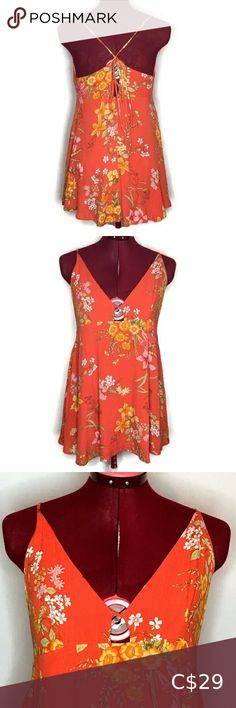 Lulus Tank Top S Orange Floral Back Tie Ke… Lulu's Women's Tank Top Small Orange Floral USA Made Strappy Back Tie Sweetheart Neck Keyhole Front-Excellent Condition  Measured While Laying  Length-21 in Armpit to Hem  Chest-17 in  0000600750JN19US Lulu's Tops Tank Tops Plus Fashion, Fashion Tips, Fashion Trends, Orange Color, Tie, Tank Tops, Floral, Outfits, Collection