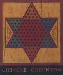 Warren Kimble ~ Chinese Checkers ~ American Folk Art