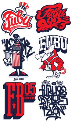 i thought fubu was dead fashion weight of the 90's until i saw these baller logos