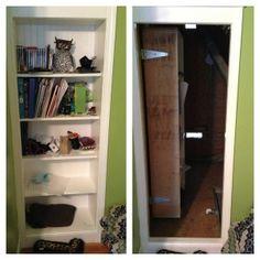 Secret Bookcase Door to Hidden Room
