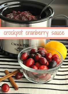 Easy crock pot cranberry sauce recipe