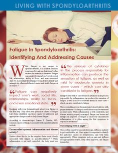 Fatigue in Spondyloarthritis: Identifying and Addressing Causes - SAA Chronic Inflammatory Disease, Chronic Fatigue Symptoms, Chronic Fatigue Syndrome, Chronic Illness, Chronic Pain, Fibromyalgia, Autoimmune Arthritis, Psoriatic Arthritis, Different Types Of Arthritis