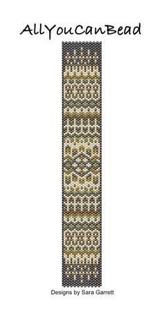 Peyote Bracelet Pattern 101c Bead Weaving INSTANT by AllYouCanBead