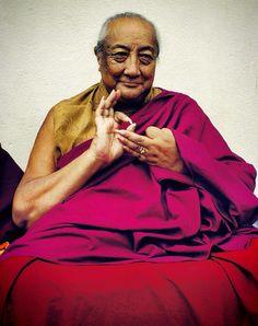 """H. H Dilgo Khyentse Rinpoche (1910-1991), was recognized by Mipham Rinpoche as an incarnation of Jamyang Khyentse Wangpo. He was the heart-son of Jamyang Khyentse Chökyi Lodrö and became one of the most profound and influential Buddhist teachers of the 20th century. Chögyam Trungpa met him as a child and later wrote, """"I felt drawn to him as if he had been my father,"""