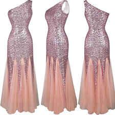 Women Sequins Long Maxi Boho Formal Prom Cocktail Party Ball Gown Evening Dress