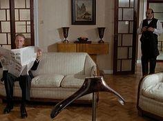 Vintage color palette - Image detail for -Investigating Agatha Christie's Poirot: The Apartment on Screen: 1989 . Agatha Christie's Poirot, Hercule Poirot, Flat Interior, Interior Design, Interior Door, Modern Interior, Dark Grey Rooms, Midsomer Murders, Stained Glass Quilt