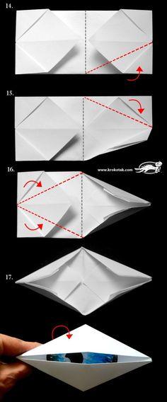 diy blinking eye - origami for kids