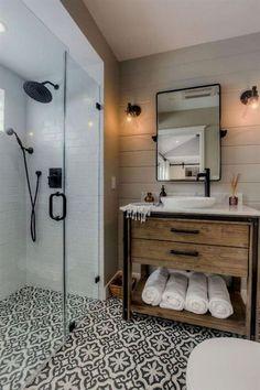80 guest bathroom makeover decor ideas for a . - 80 guest bathroom makeover decor ideas for a budget - Modern Farmhouse Bathroom, Farmhouse Vanity, Modern Bathrooms, Beautiful Bathrooms, Craftsman Bathroom, Luxury Bathrooms, Rustic Bathrooms, Dream Bathrooms, Farmhouse Shower Doors