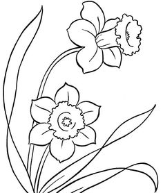 Spring Flowers Colouring Pages To Print - Spring day cartoon coloring pages