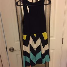 Cute chevron color block dress Cute chevron color block dress. Worm only twice and is still in excellent condition. PM only, no trades, no holds Dresses