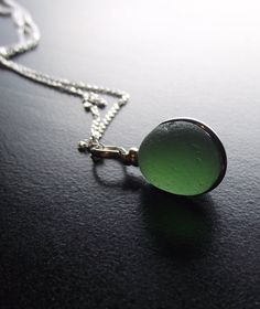 Sea glass necklace -- looks like the Moonstone from Double Double Toil & Trouble!