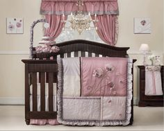Reintroduction of a popular collection; elegant color palette of soft pastel pinks, lavendars, and purples; Featuring soft satin ruffles, petite satin rosettes, embroidery panels and dimensional flowers with floating petals.