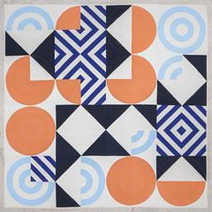 Eames Blocks quilt designed by Lorena Marañón | The Modern Quilt Guild