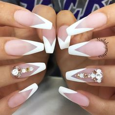 True Embellishments for Your Coffin Nails ★ Long Coffin Nail Designs with Pastel Colors Picture 2 ★ See more: http://glaminati.com/coffin-nails/ #coffinnails #coffinnaildesign