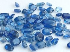 16 Pcs Kyanite Oval Cut Stone Lot Faceted Oval by gemsforjewels