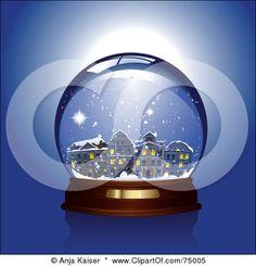 winter village fantasy snow globes - Bing Images