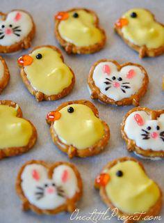 The 11 Best Easter Desserts - Pretzel Bunnies and Ducks