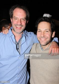 News Photo : Danny Mastrogiorgio and Paul Rudd pose backstage...