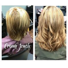 """Want something different this summer for your hair but you love your color? Add some length! Here length was added with Crown Jewels clip-in Extensions in 18""""-140g """"Winter Beige Blonde""""  and it made a world of difference for her hair!   Your turn! Head to www.QueenCHair.com to start your journey"""
