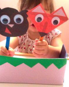 activité-manuelle-2ans-marionnettes-papier-bâtonnets-bricolage-enfants