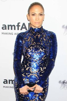 Jennifer Lopez in Blue #Sequin by Tom Ford. #SequinCity