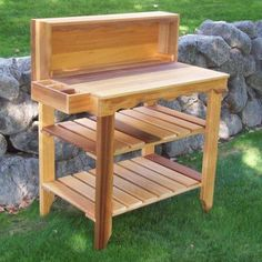 Cedar stain potting bench gardening tools gardening workstation planting table >>> learn more by visiting the image link. Outdoor Potting Bench, Potting Tables, Pallet Furniture, Garden Furniture, Door Furniture, Rustic Furniture, Rack Bike, Cedar Stain, Stain Wood