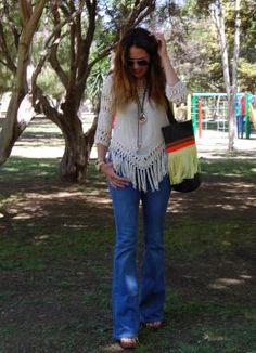 Flecos + Flecos. Look estilo Hippie 2015.