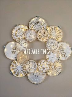 Doilies Crafts, Crochet Doilies, Yarn Crafts, Sewing Crafts, Chicken Wire Art, Crochet Wall Art, Doily Art, Arts And Crafts, Diy And Crafts