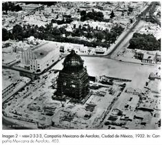 Estructura del Monumento a la Revolución, 1932.