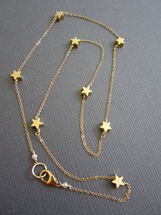 7 Tiny Star Necklace Star necklace Dainty Star Necklace by Muse411, $36.00