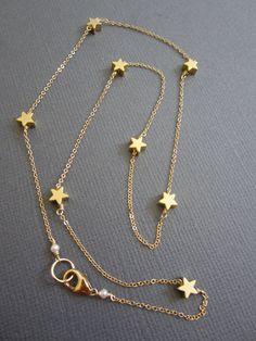 7 Tiny Star Necklace Star necklace Dainty Star Necklace by Muse411, $44.00