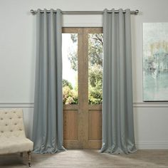 Turquoize FULL BLACKOUT Lined Curtains Back Tab Rod Pocket 2 Panels 100 Blackout Drapes Double Deck Thermal Insulated Solid For Wi