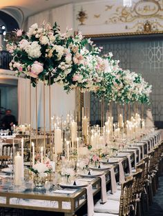 Masterful Elegant Classy Wedding Ideas Masterful Elegant Classy wedding ideas---blush chic wedding reception table settings, diy wedding centerpieces with candles and tall florals, spring weddings, wedding decors. Wedding Reception Tables, Wedding Table Centerpieces, Wedding Table Settings, Floral Centerpieces, Reception Ideas, Centerpiece Ideas, Wedding Receptions, Long Table Wedding, Quinceanera Centerpieces